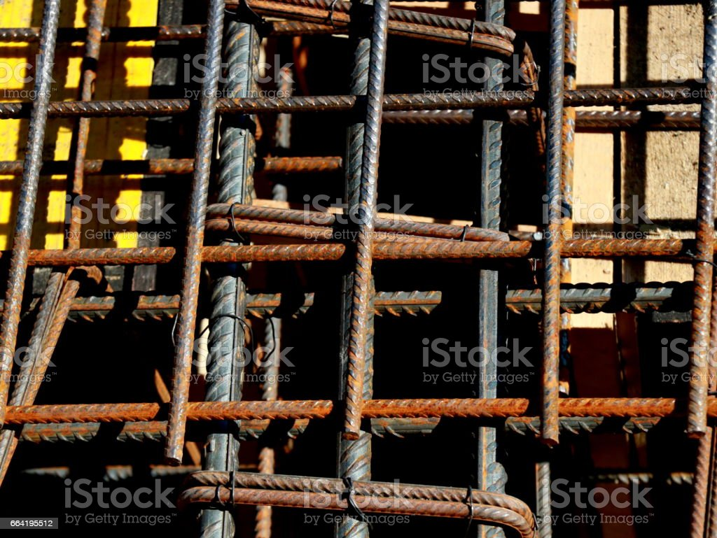 Iron armature close up stock photo
