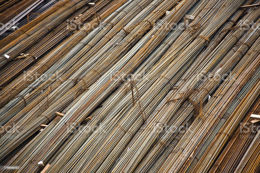 iron at a construction site royalty-free stock photo