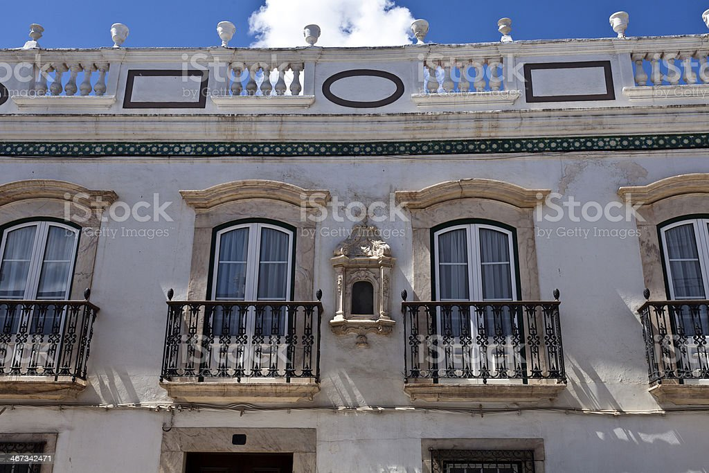 Iron balconies in Borba, Portugal royalty-free stock photo