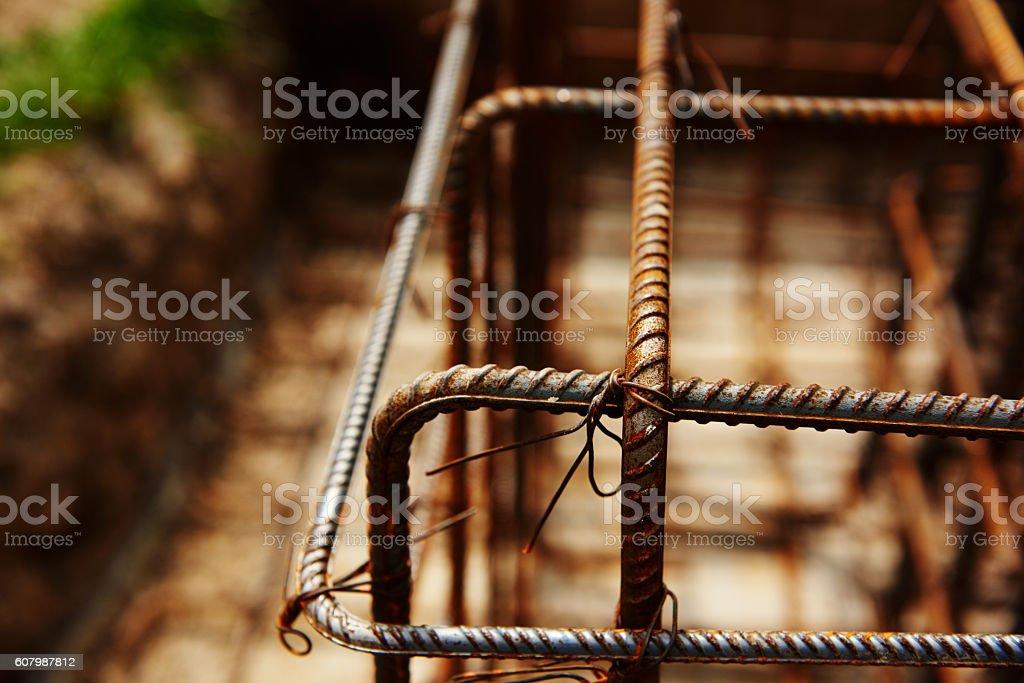 iron bars, macro shot stock photo