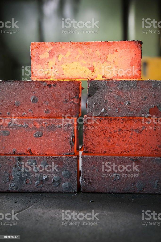 iron blocks stock photo