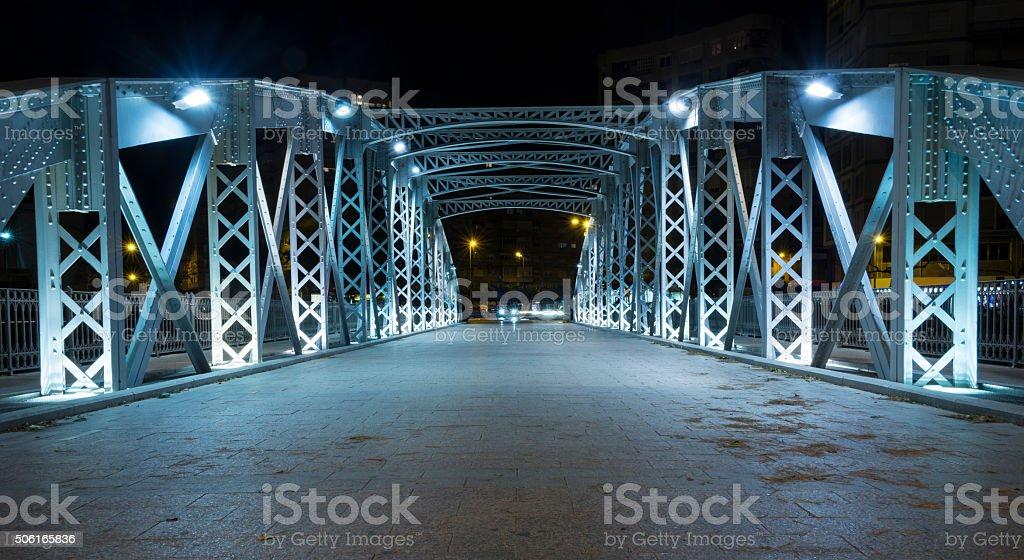 Iron bridge in Murcia V stock photo