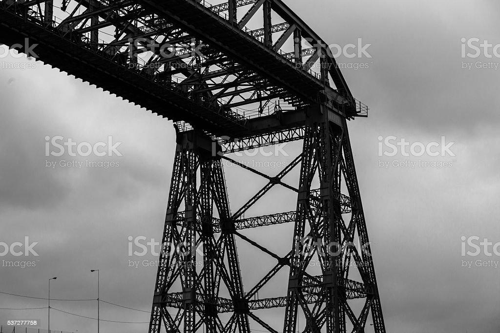 iron bridge la boca stock photo