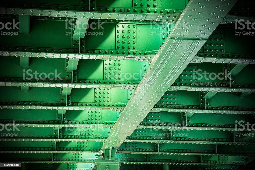 Iron bridge of steel stock photo