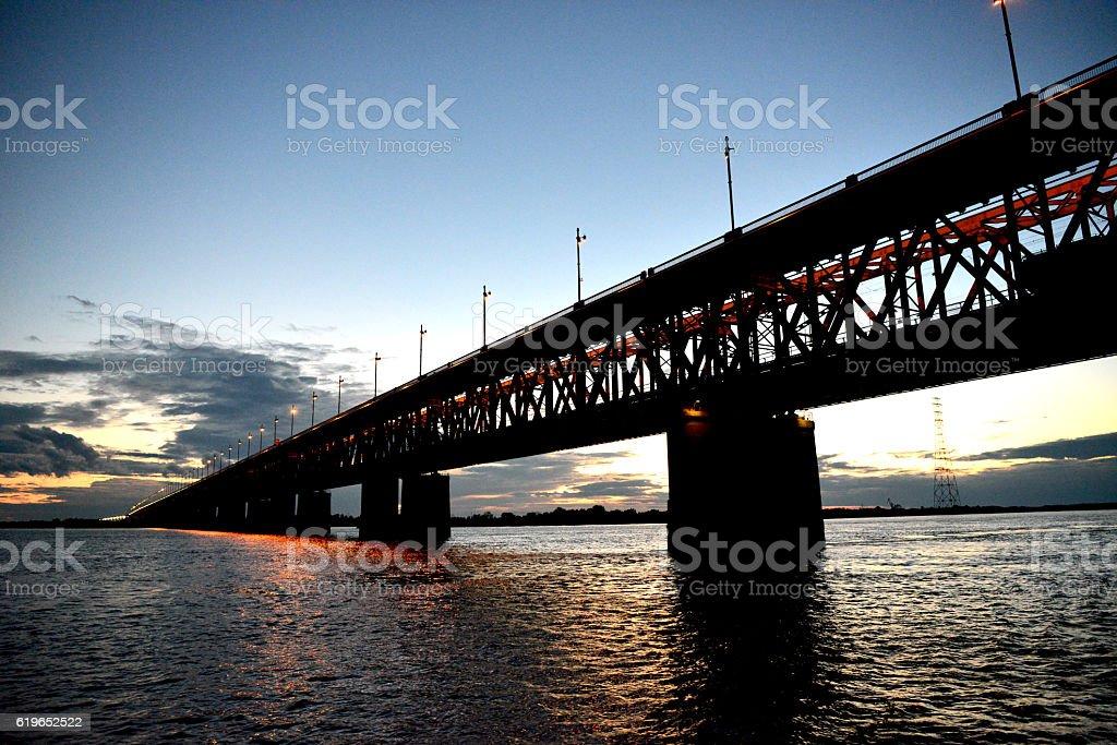 Puente de hierro foto de stock libre de derechos