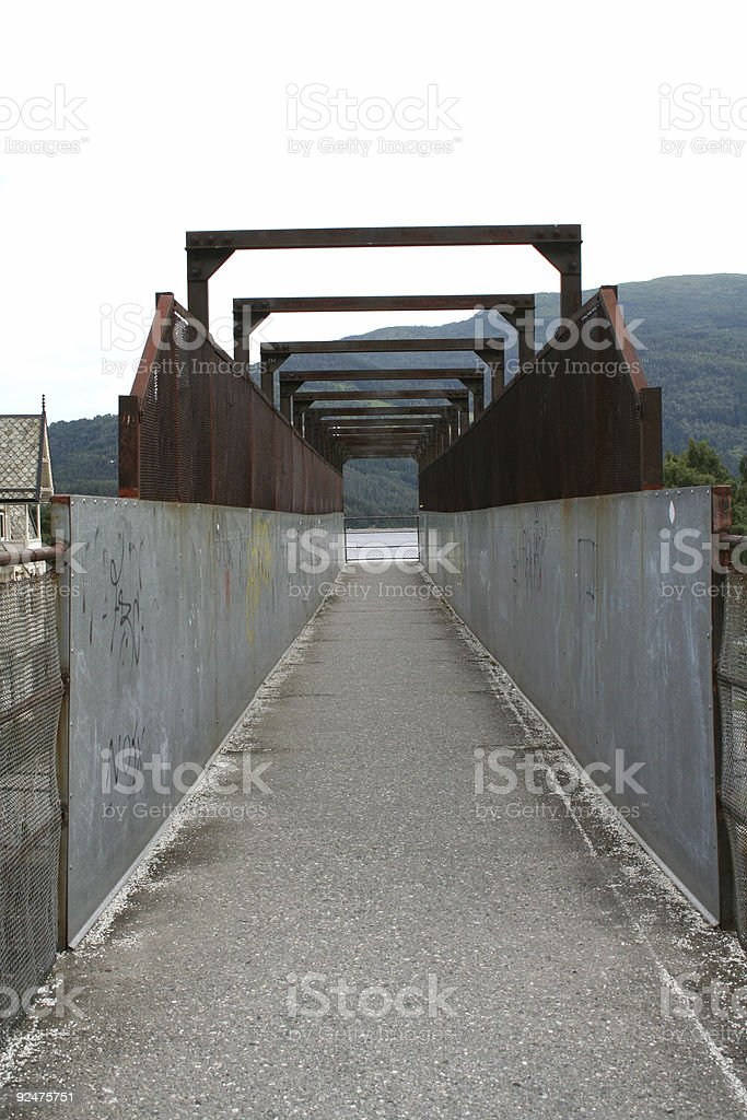 Iron bridge stock photo