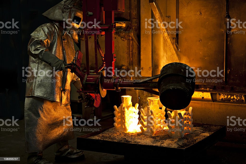 iron cast stock photo