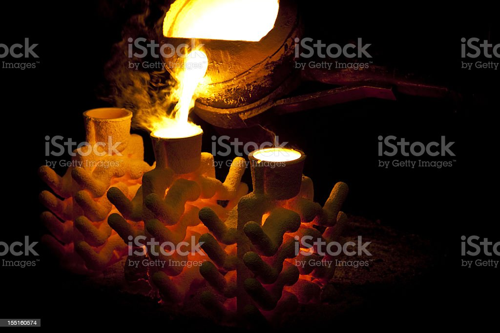 iron casting stock photo