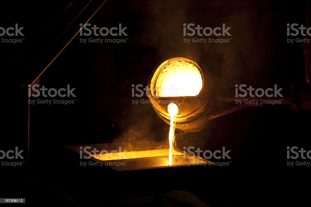 iron casting royalty-free stock photo
