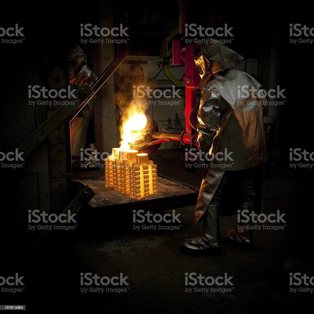 iron casting stock photo
