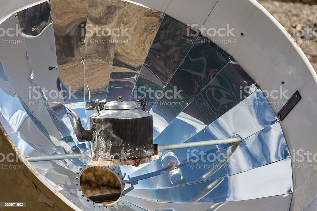 Iron Cattle warming inside special solar Heater close view stock photo