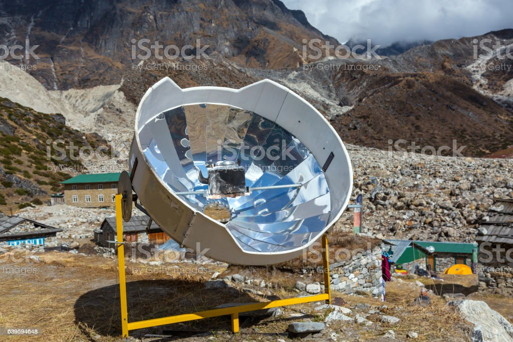 Iron Cattle warming inside special solar Heater stock photo