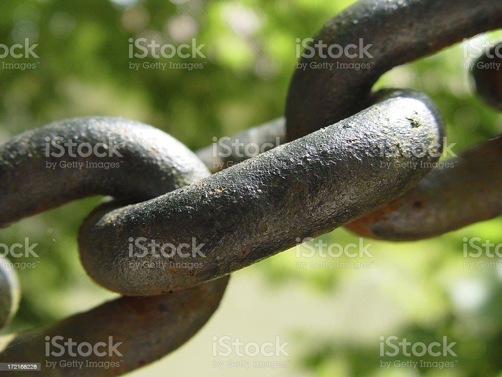 Iron Chain Link stock photo
