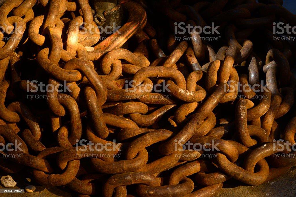 Catena di ferro stock photo