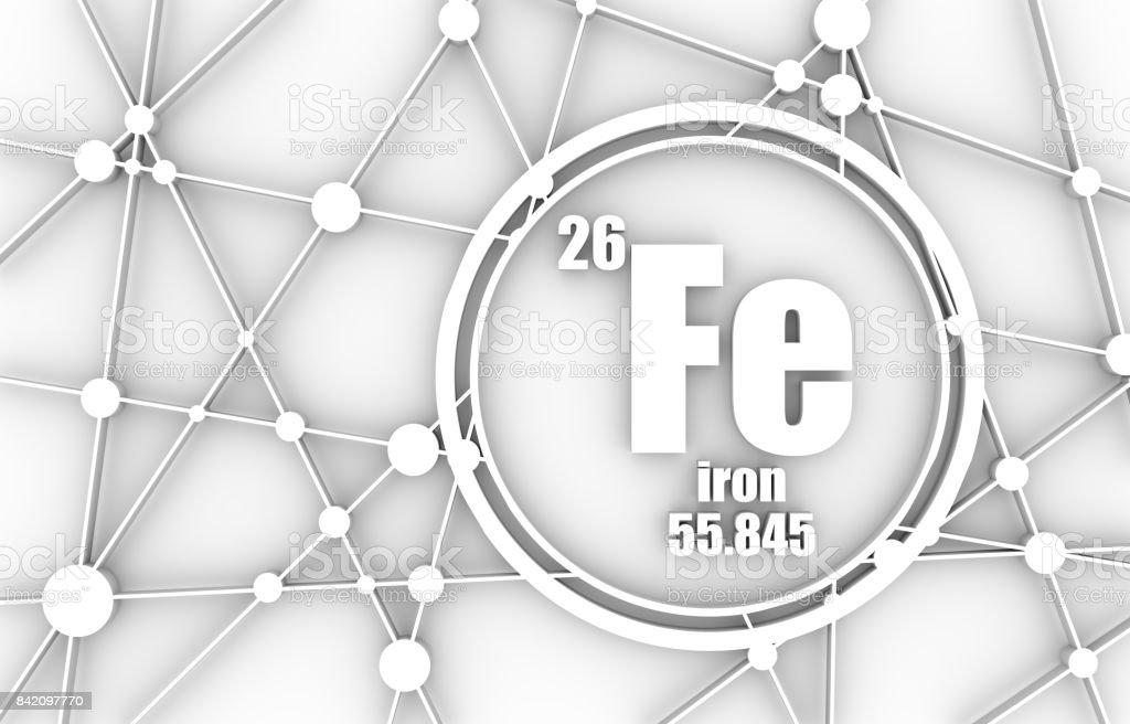 Iron chemical element. stock photo