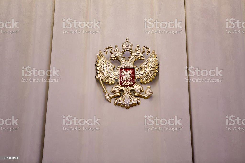 iron coat of arms stock photo