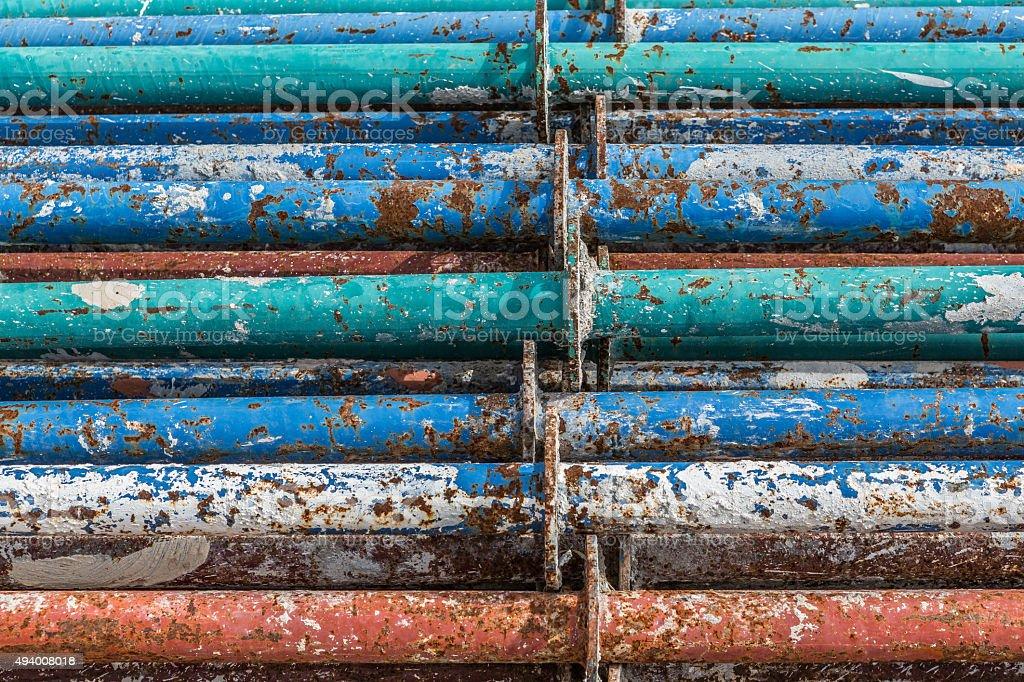 Iron construction rods stock photo