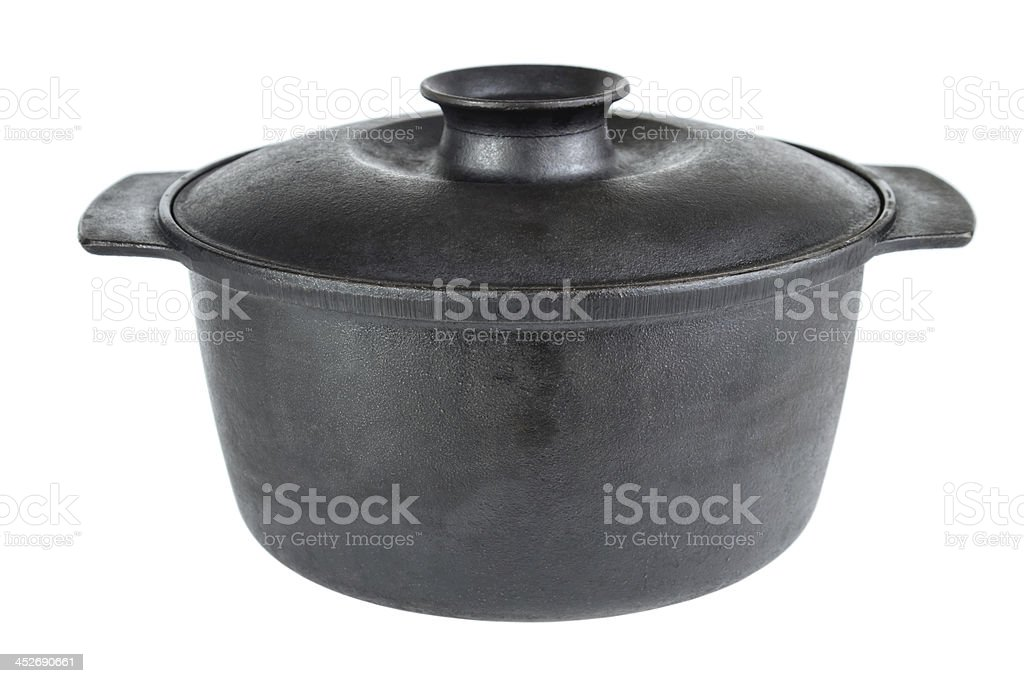 Iron cooking pot royalty-free stock photo