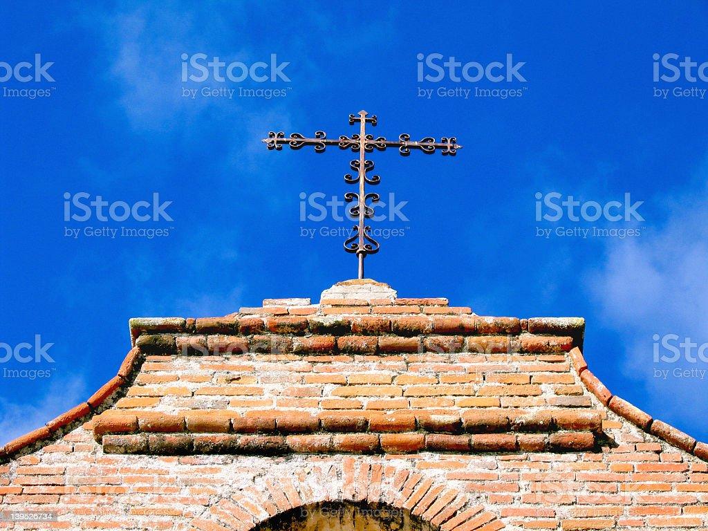 Iron Cross at Mission San Antonio de Padua royalty-free stock photo