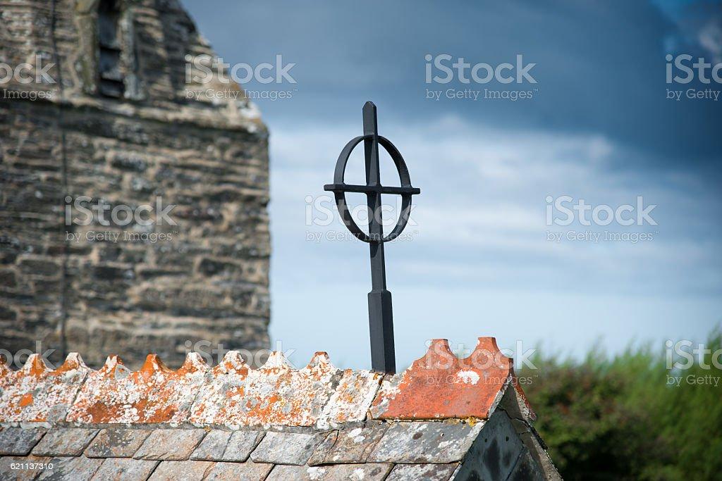 Iron cross stock photo