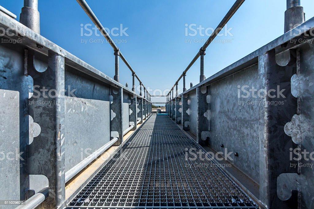 iron crossing bridge stock photo