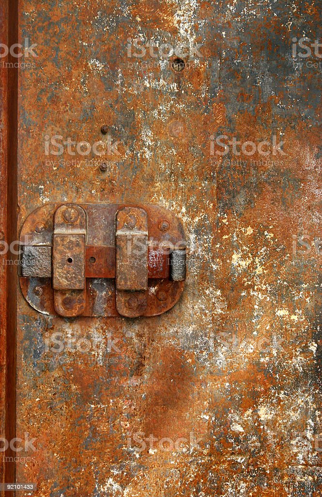 Iron Door stock photo
