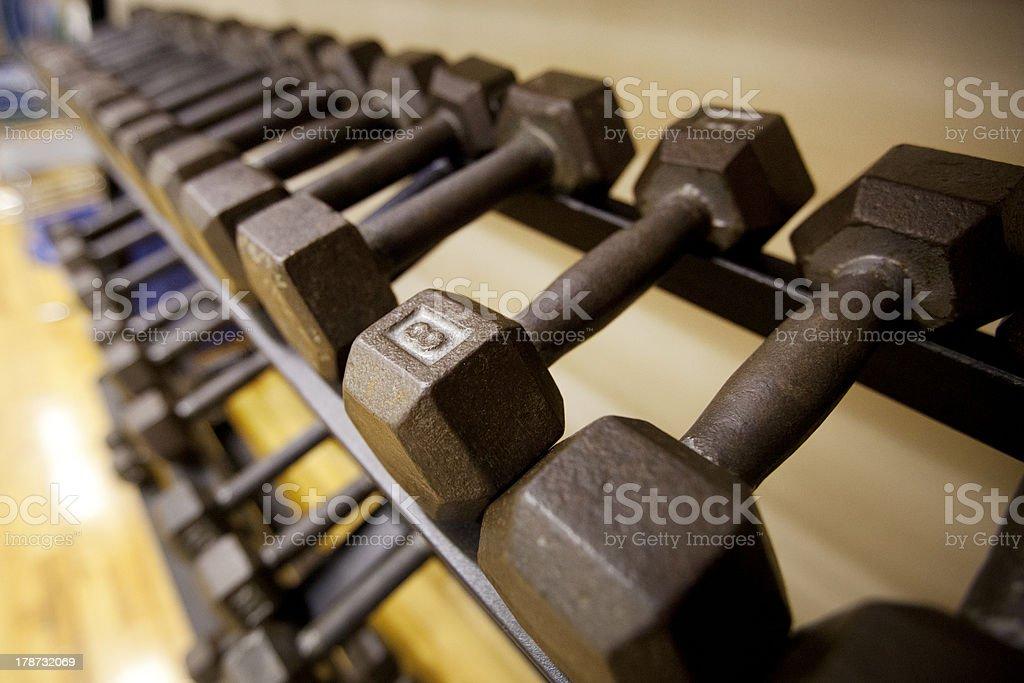 Iron Dumbbells stock photo