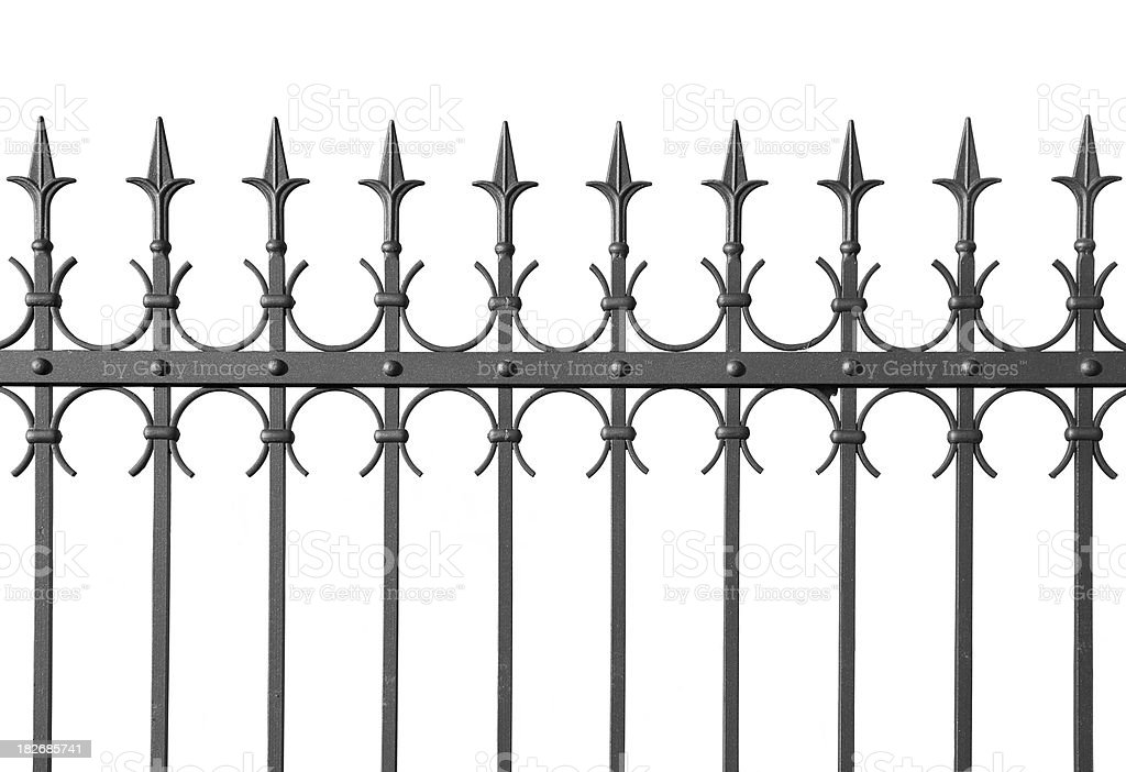 Iron Fence stock photo
