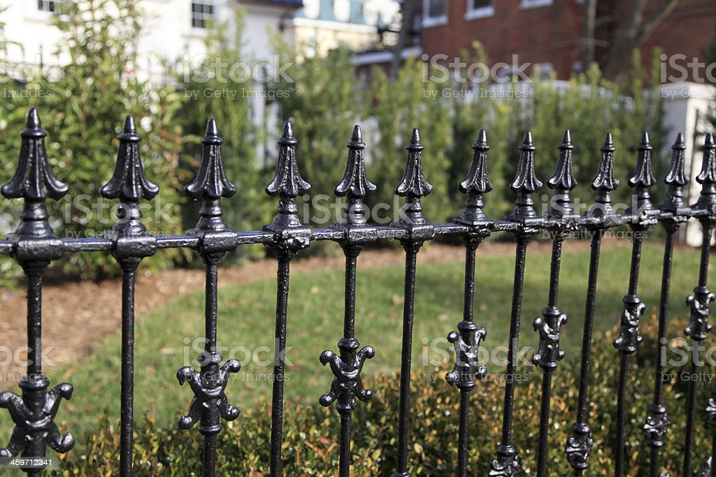 Iron Fence royalty-free stock photo