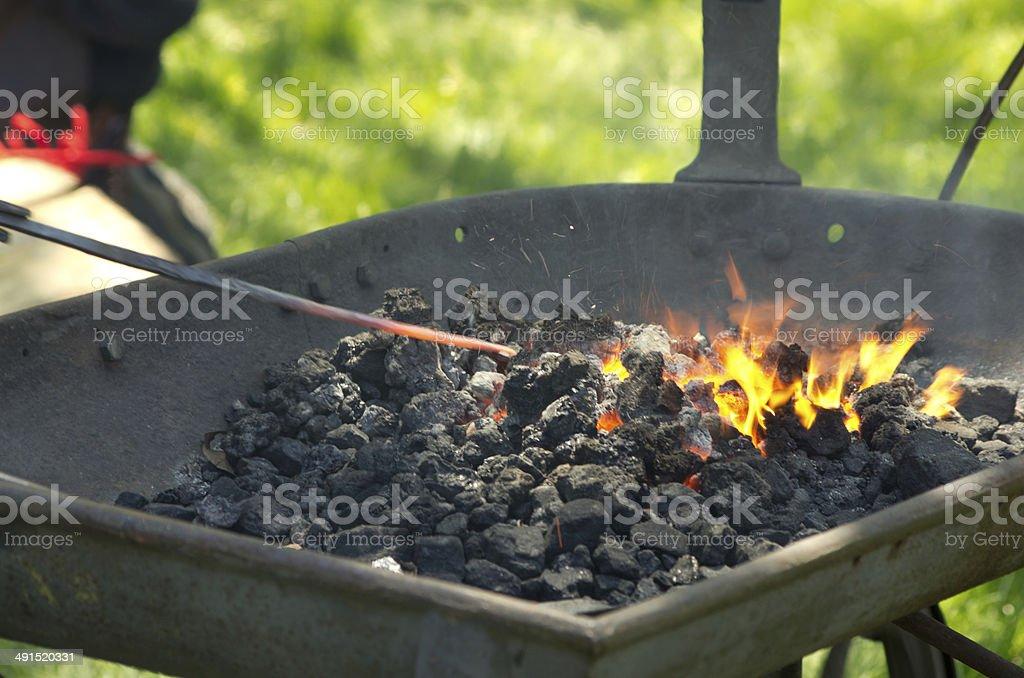 Iron forge stock photo