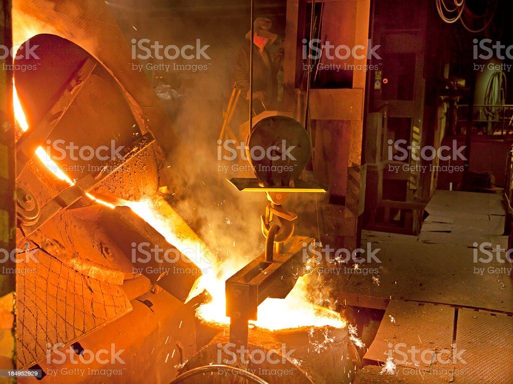 Iron Foundry stock photo