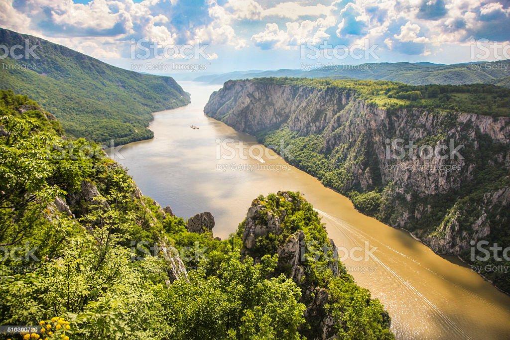 Iron Gate gorge stock photo