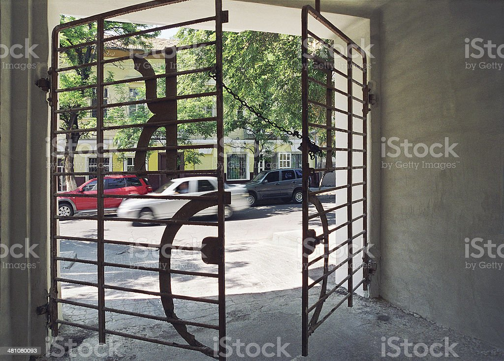Iron Gate townhouse royalty-free stock photo