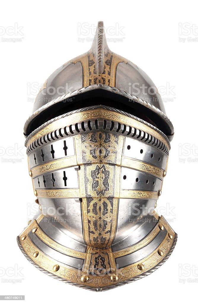 Iron helmet stock photo