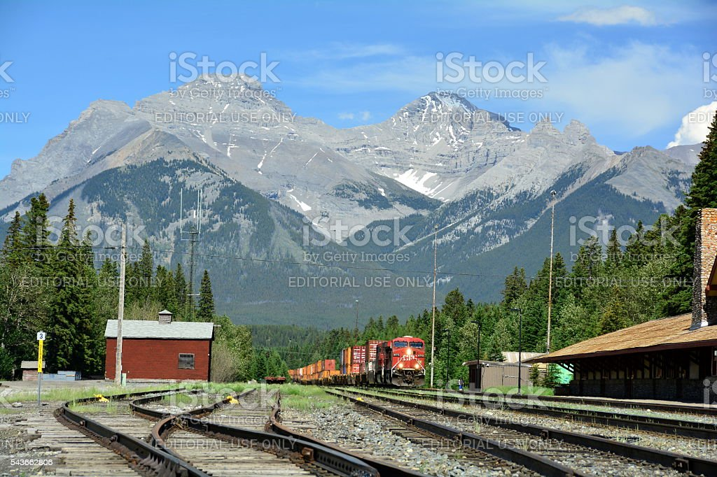 Iron Horse through the mountains stock photo