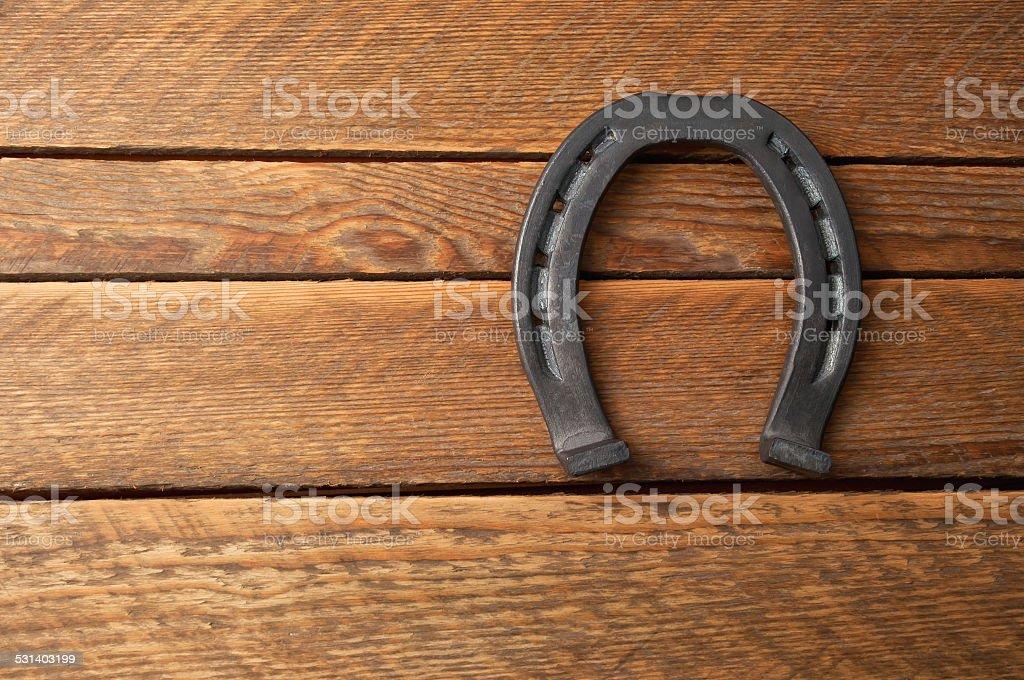 iron horseshoe stock photo