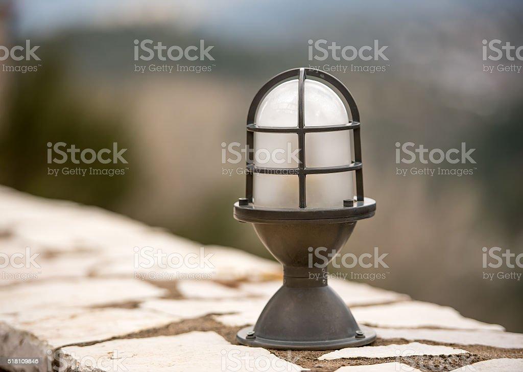 Iron lamp stock photo
