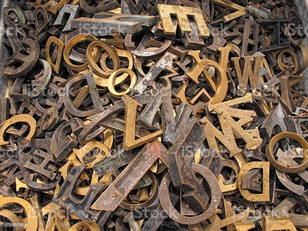 iron Letters stock photo