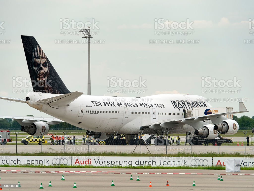 Iron Maiden Ed Force One stock photo