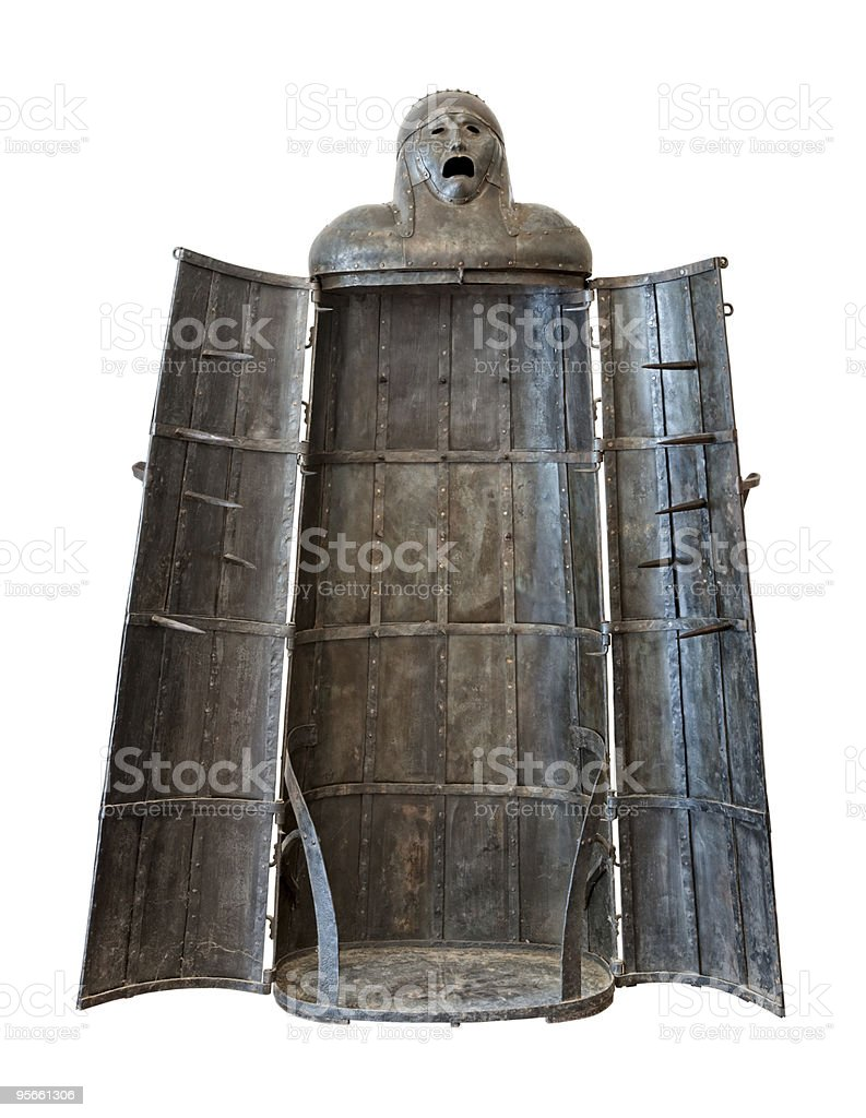 Iron Maiden, medieval torture device stock photo
