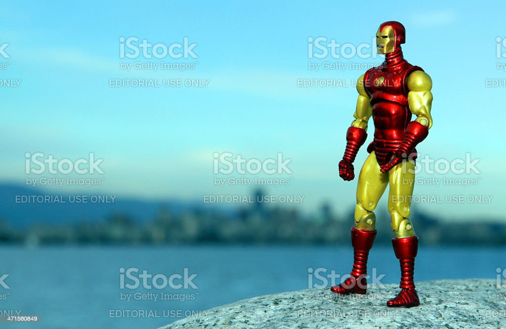 Iron Man and Those He Defends royalty-free stock photo