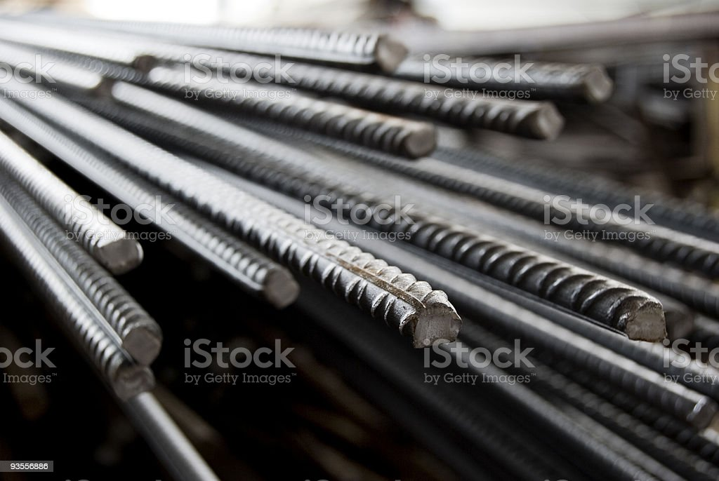 Iron Material, reinforced concrete, steel stock photo