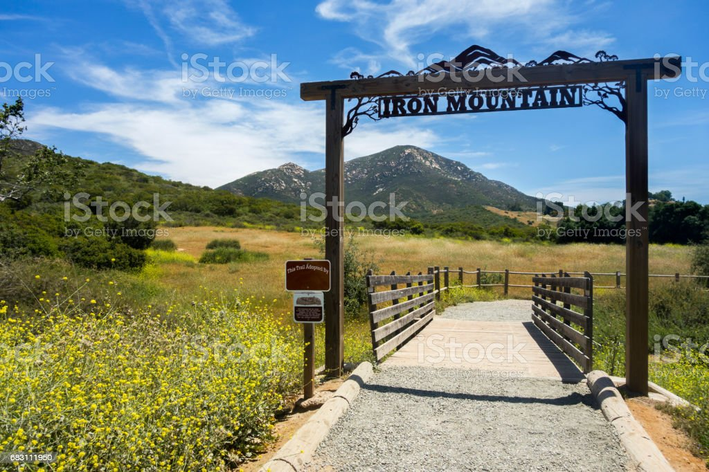 Iron Mountain Trailhead in Poway near San Diego, California stock photo