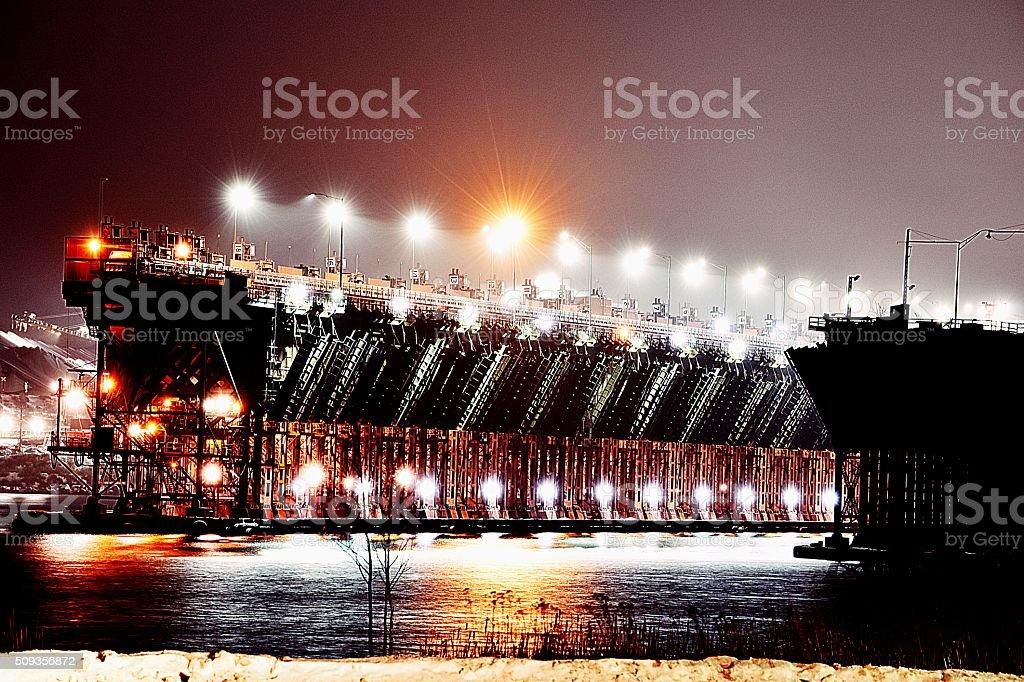 Iron Ore boat loading dock royalty-free stock photo
