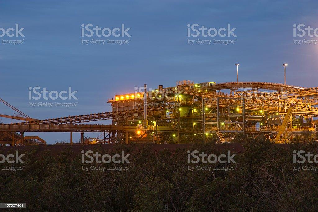 Iron Ore Facility Port Hedland stock photo