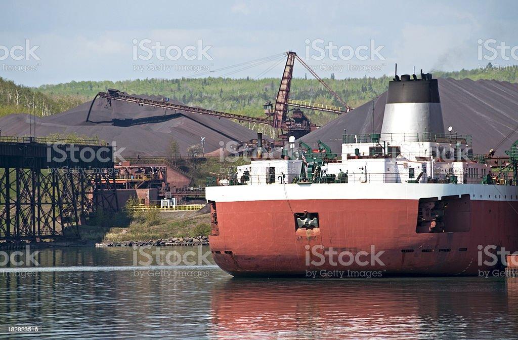Iron ore mine in Minnesota royalty-free stock photo