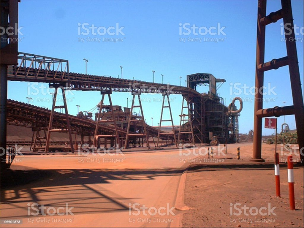 Iron ore mine royalty-free stock photo