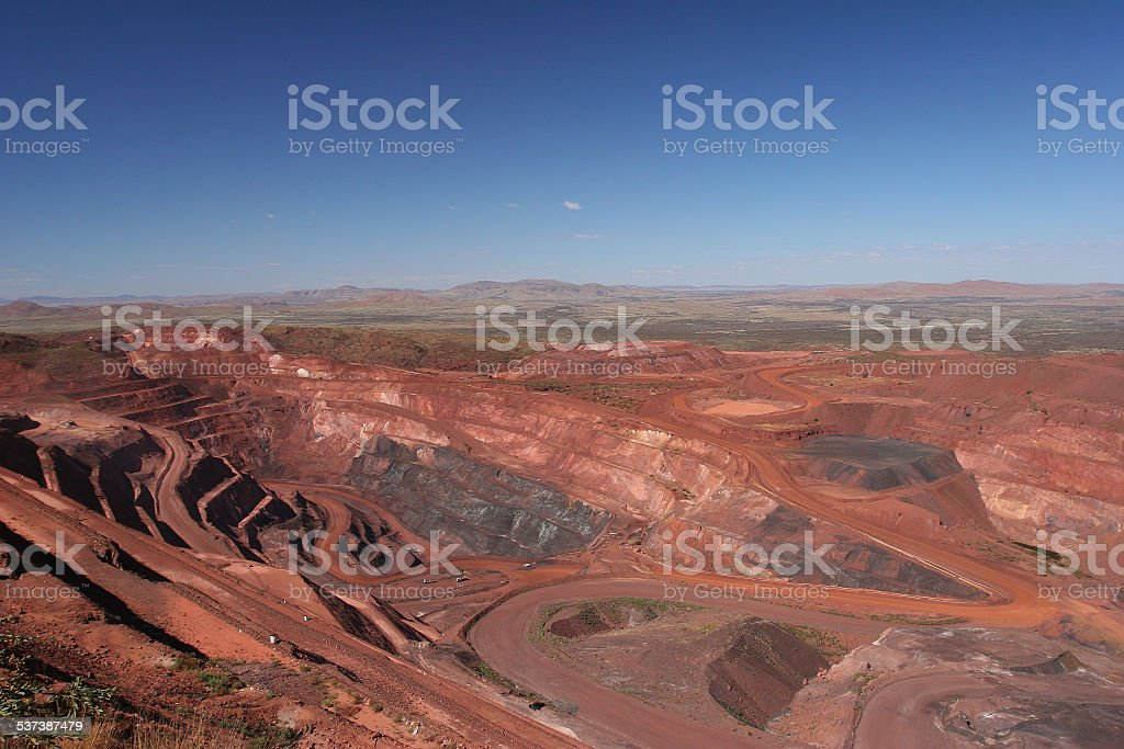 Iron Ore Mine Pit stock photo