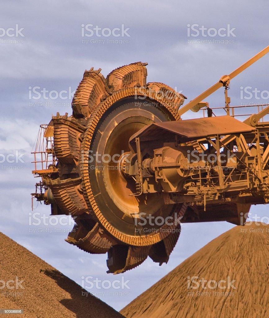 Iron Ore Mine Site Reclaimer stock photo