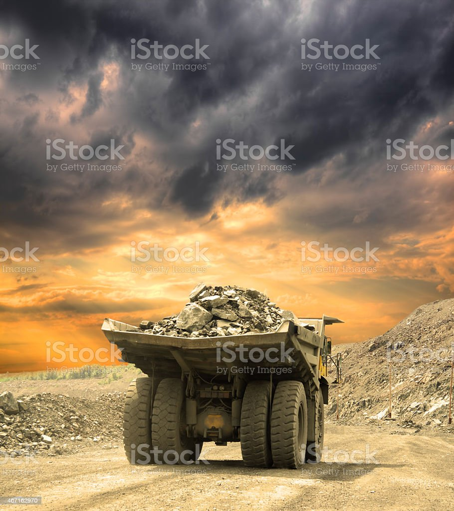 Iron ore opencast stock photo